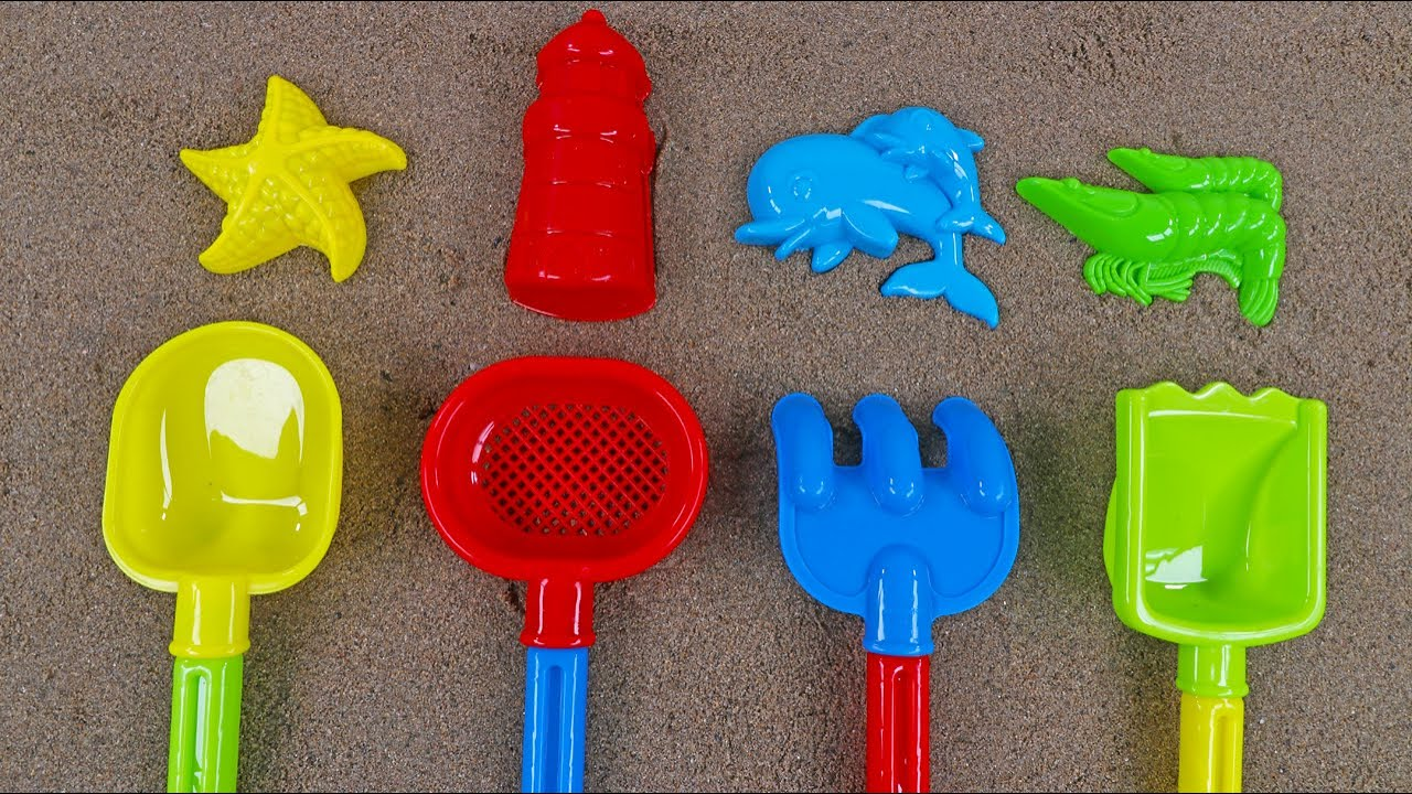 Fun colors, numbers playing time to learn from sand mold toys!