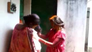 Holi girl fights