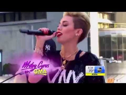 Miley Cyrus - We Can't Stop (Live on Good Morning America 2013)