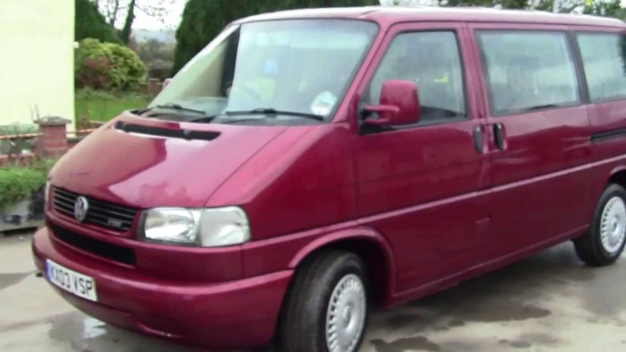 vw caravelle t4 in red youtube