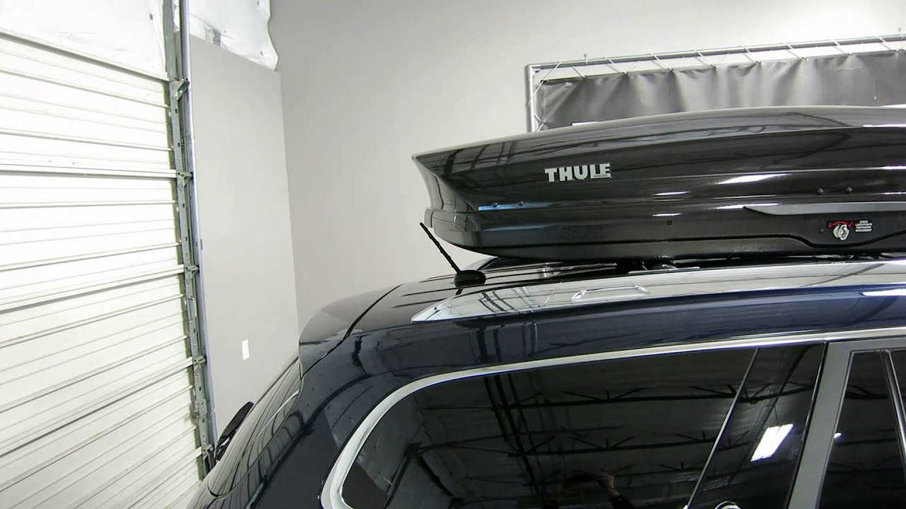 Buick Enclave With Thule Sonic Xl Roof Top Cargo Box By