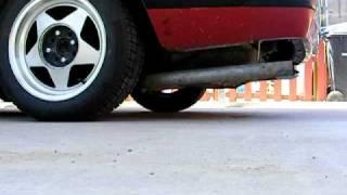 1989 mustang 2 3l lx hatchback magnaflow xl