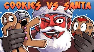 Cookies Vs Claus - EPIC BATTLE FOR XMAS! (4 Player Action) thumbnail