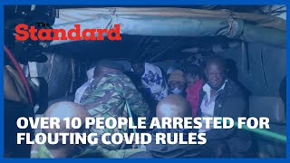 Police arrest over 10 people in Murang\'a town for flouting Covid 19 rules in bars