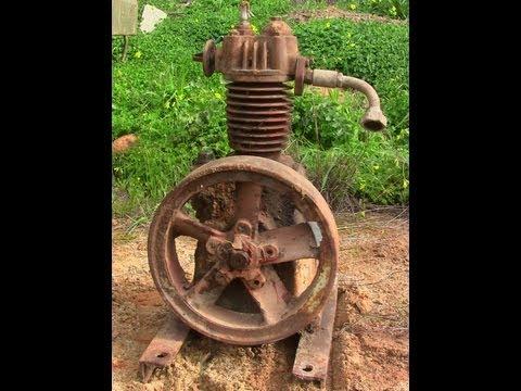 Rubbish Dump Find - Buried Vintage Antique Old Broom & Wade LTD Air Compressor?
