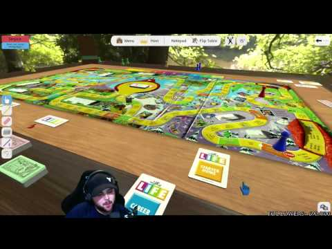 manly men paly bord games- the game of life