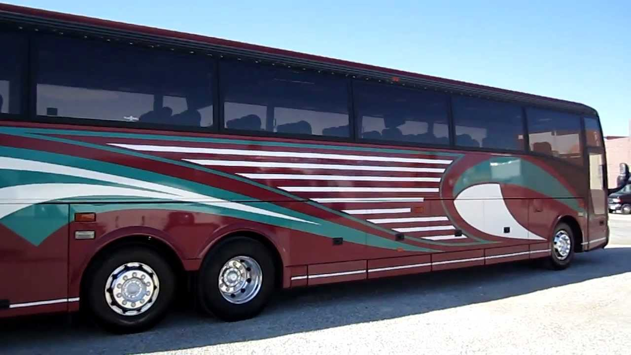 2000 t2145 van hool coach with galley at las vegas bus sales [ 1280 x 720 Pixel ]