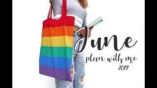 PLAN WITH ME | June 2019 Bullet Journal Setup - Pride Theme
