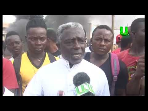 Asawasi residents protest against siting of Lorry Station