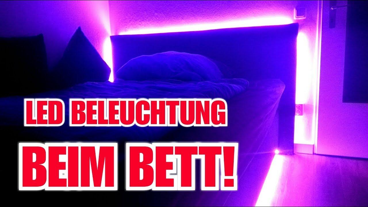 Diy Led Beleuchtung Beim Bett Selber Machen Itsstevee Youtube