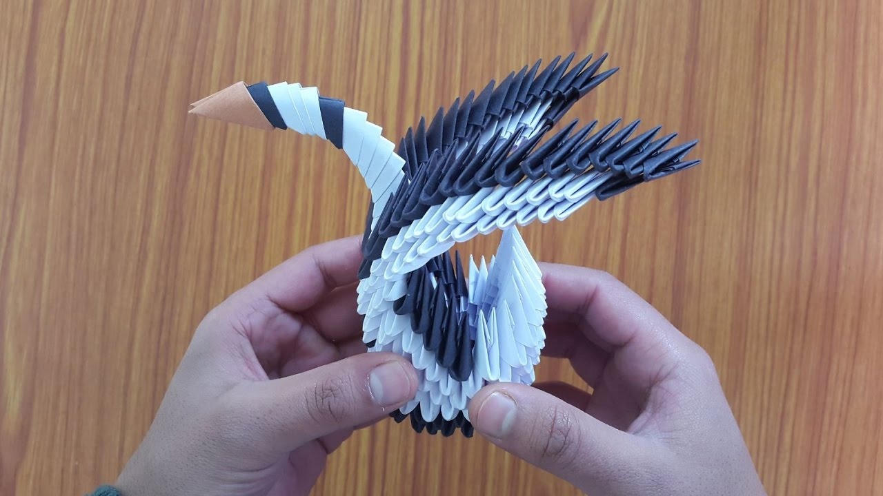 How to make a beautiful 3d origami swan easy step by for Origami swan easy step by step