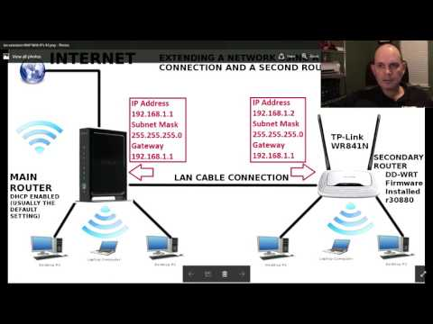 Connecting Two WIFI Routers Together Using A Hard Wired Connection & Sharing The Internet