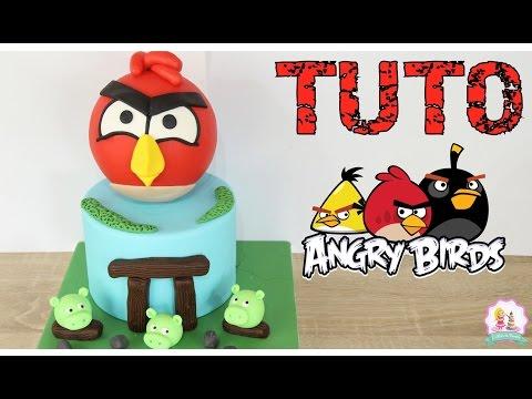 ♡•-gateau-pate-a-sucre-angry-birds-cake-design---fondant-cake-•♡