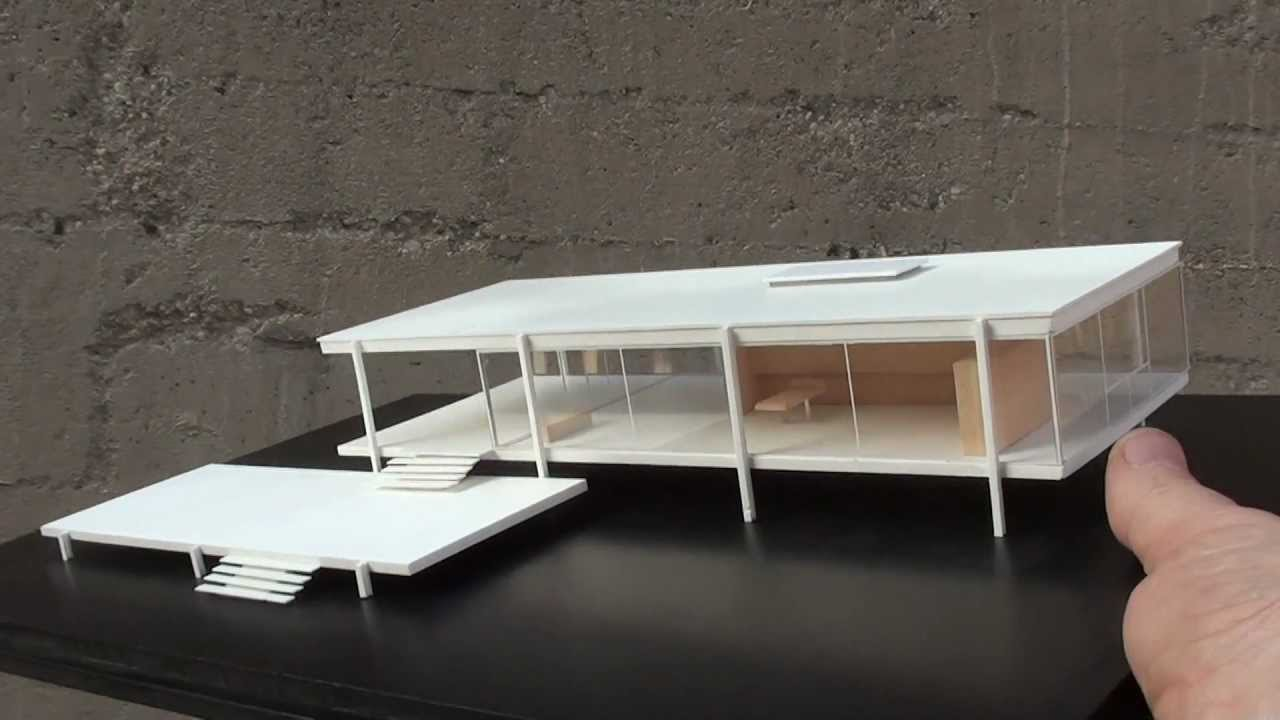 Historical architectural models mies van der rohe for Architecture house models
