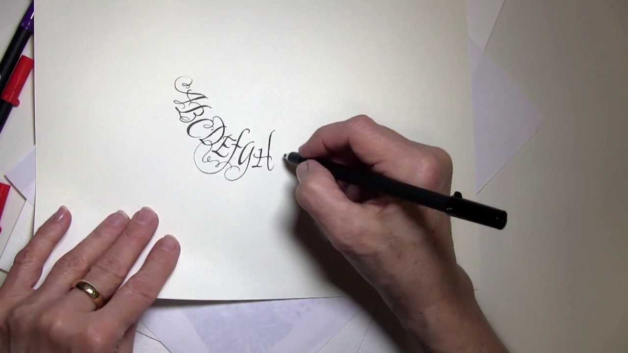 Calligraphy demonstration with pigma calligrapher pens Calligraphy youtube