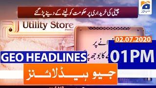 Geo Headlines 01 PM | 2nd july 2020