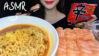 ASMR SALMON SUSHI, CHEESE RAME…