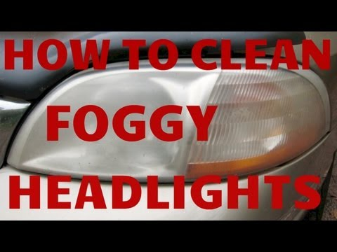 HOW TO CLEAN FOGGY YELLOW HEADLIGHTS GUARANTEED!