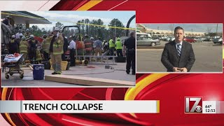 1 worker still missing in trench collapse at Wake County construction site
