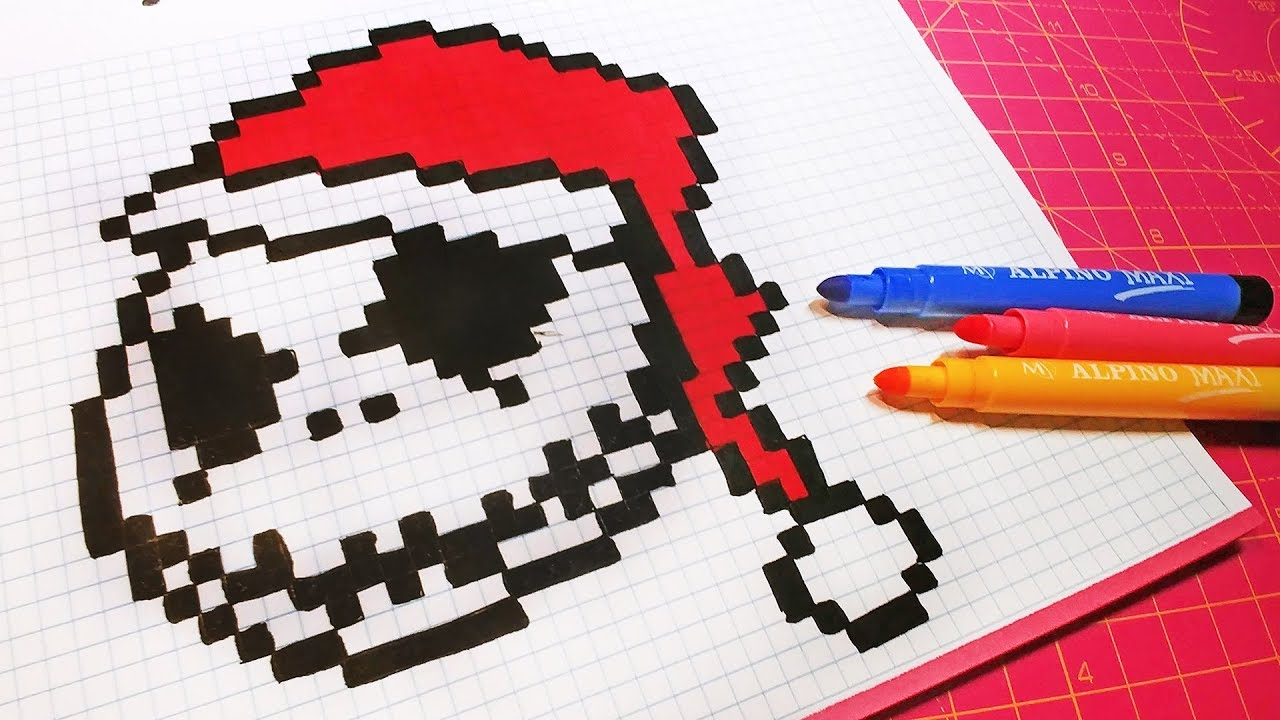 Christmas Pixel Art How To Draw Santa Claus Jack Skellington Pixelart