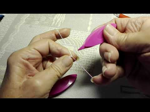 2019. november 14.Hajós csipke, dupla gyűrűk.   (#Needle Tatting for Beginners )
