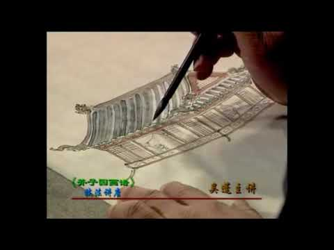 【HD】English Caption Landscapes 23 pavilion furniture The Mustard Seed Garden Manual of Painting