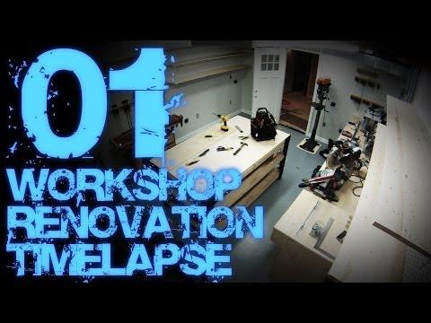 01. Workshop Renovation Timelapse 01 (with Progress Tour)