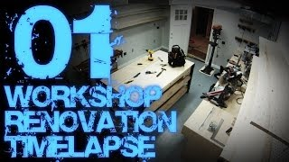 01. Workshop Renovation Timelapse 01 (with Progress Tour)