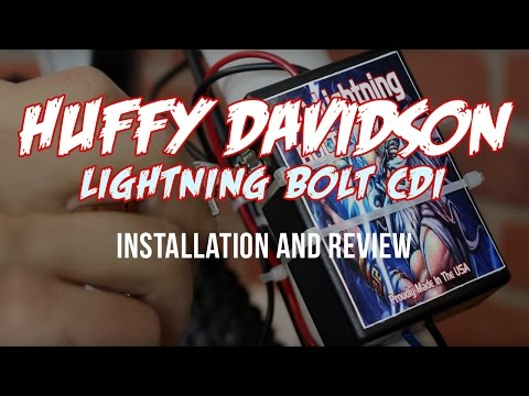 Huffy Davidson (HD) Lightning Bolt CDI Install and Review for Motorized Bicycles