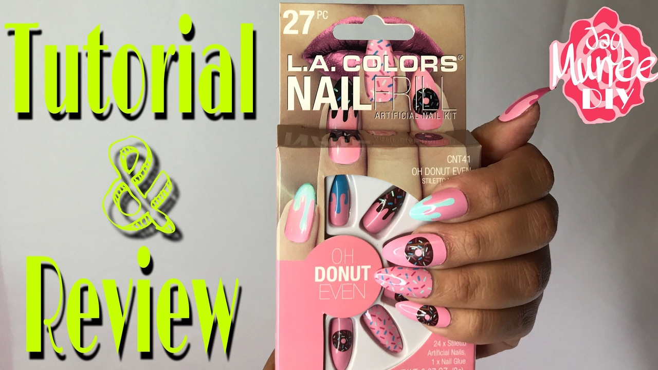 L.A Colors Nail Frill Artificial Nail Kit REVIEW and TUTORIAL - YouTube