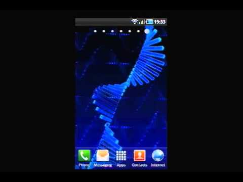3D Android DNA Live Wallpaper - YouTube