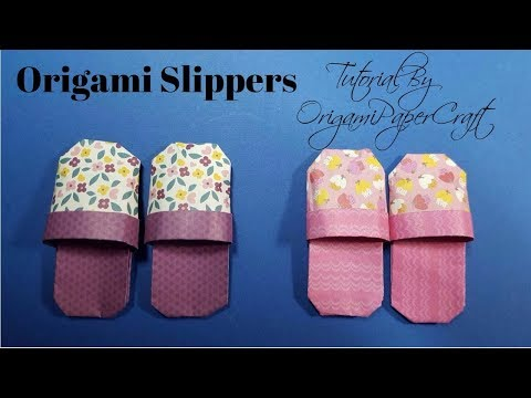Origami Slippers (Đôi Dép ) Tutorial By OrigamiPaperCraft