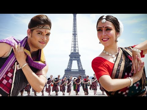 Sambalpuri dance at the Eiffel Tower (Paris, France) | Rasarkeli Bo