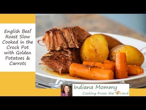 Crock Pot English Beef Roast With Golden Potatoes & Carrots (Pot Roast)