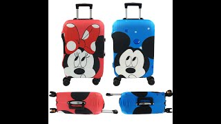 Luggage Cover - Minnie And Mickey Pattern Travel Suitcase Protective Cover, Elastic Dust Case