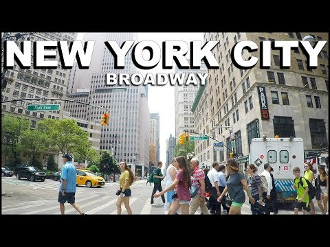 NEW YORK CITY Manhattan Broadway (Theatre District) Driving Tour