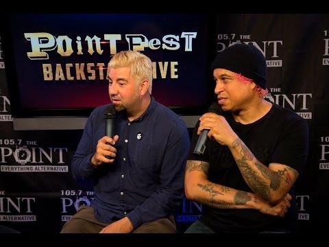Deftones backstage at Pointfest