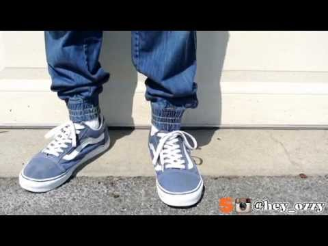 Vans Old Skool Low Blue On Feet Review Youtube