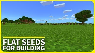 Minecraft PE Seeds - TOP 3 Flat Seeds for Building - MCPE 1.2 / Xbox / W10 Edition Seeds (2017)
