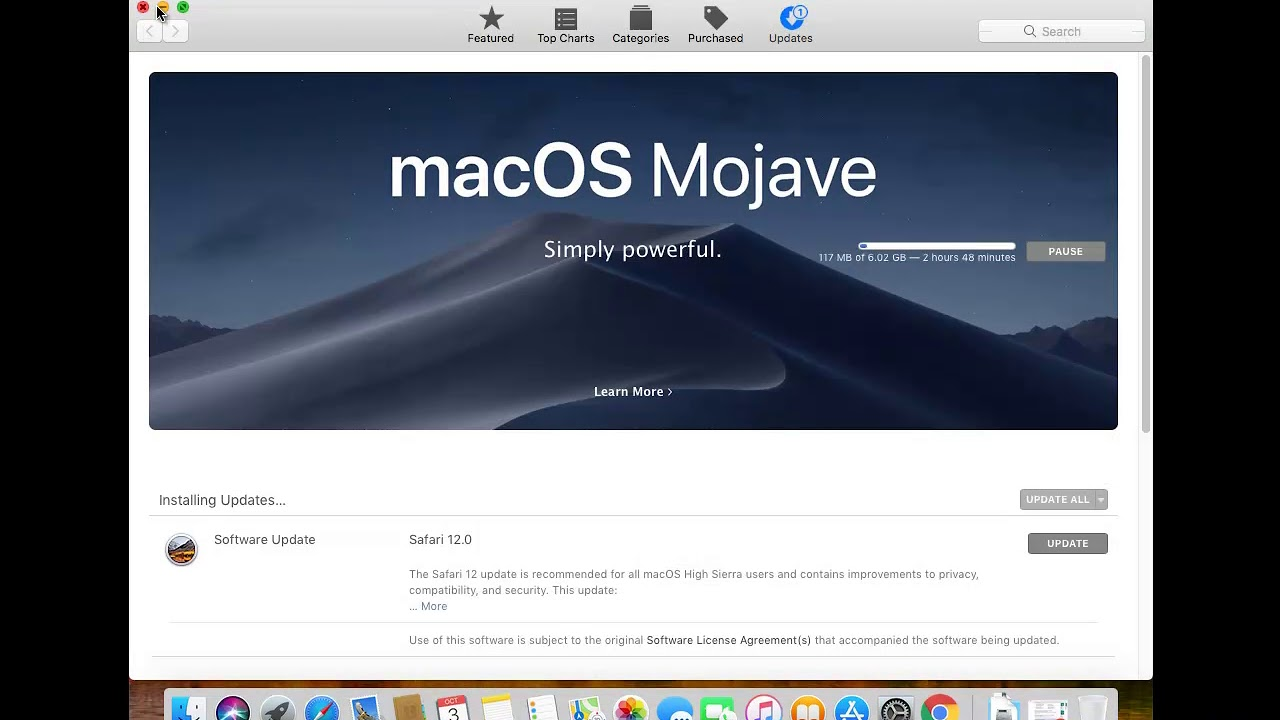 Disable All Automatic Updates in macOS Mojave