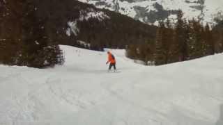 Skiing in Villars, CH, Feb 2014