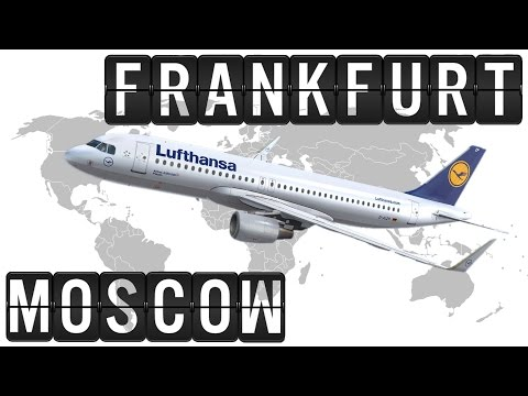 A320 Cockpit Flight Timelapse from FRANKFURT [FRA] to MOSCOW [DME] 2100km