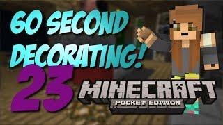 Minecraft Pocket Edition: 60 Second Decorating! #23 - Pool Table Design!