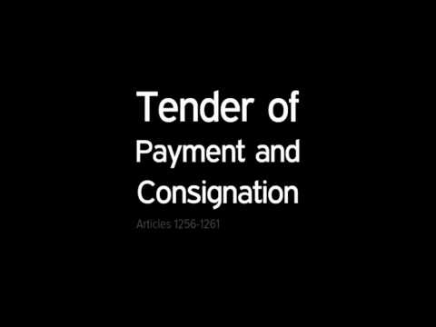 Tender of Payment and Consignation