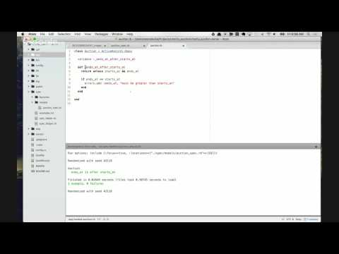 Live Code a Charity Auction Application: Episode 4 - TDD Initial Models