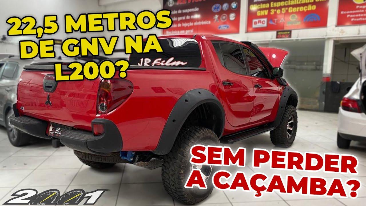 L200 V6 COM 3 CILINDROS POR BAIXO SEM REMOVER O ESTEPE!!!