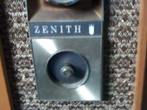 My 1962 Zenith Floor Model Tv Being Turned On After Eight Years Of