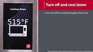 7 - How to Turn Off Oven and Cool-Down (MXP/AXP)