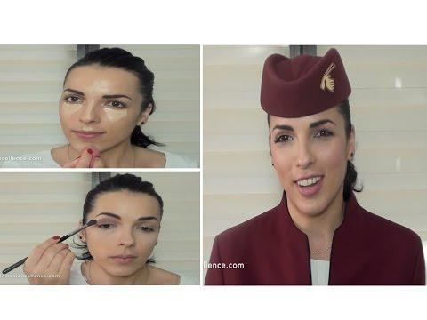 Qatar Airways Make Up Tutorial - Cabin Crew Excellence