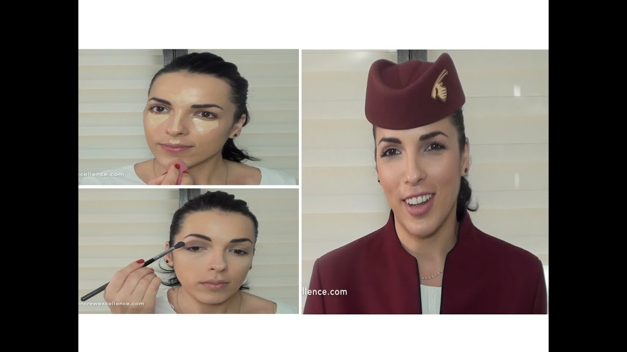 qatar airways make up tutorial - cabin crew excellence - youtube